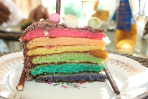 THE RAINBOW CAKE by the-marou