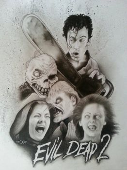Evil Dead 2  by timscottart