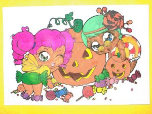 Halloween Candy Girls by Mr-Pink-Rose