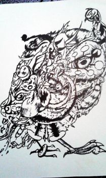 Tribal owl by ToviAlmighty