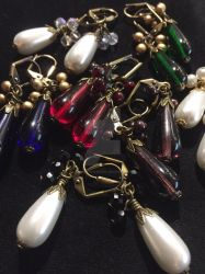 Holiday Teardrop with Baubles Earring Pile by ElegantlyEccentric