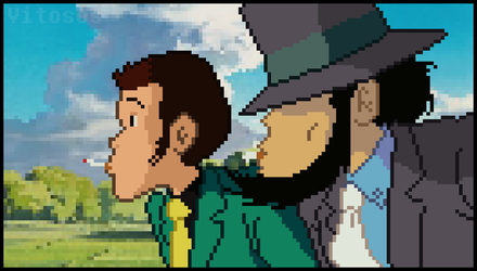 Lupin and Jigen by vitosos