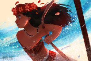 I am Moana by trisketched
