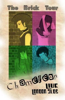 Chameleon Punk - The Brick Tour Poster by nekoi-chan