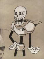 Papyrus (Old Toon) by DethInkSpot