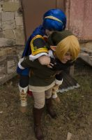 Piggy Ride [Link and Marth Cosplay] by Sonic-Cake