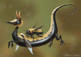 The bumblebee dragon rides once again. by Servaline