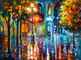 Old Streets by Leonid Afremov