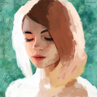 Studying portrait by bloojesd