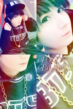 PSD8 White/ Colors/ By Sumi23/ Cosplay Suga BTS by DDH-Sumi23