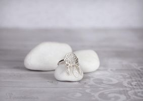 Dreamcatcher ring by Keila-the-fawncat