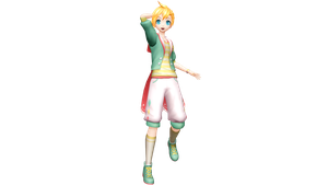 Project Diva X Radical Star Len by WeFede