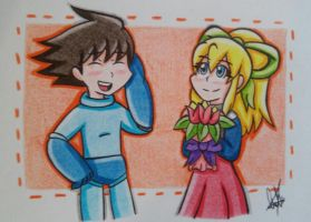 Megaman And Roll by PearlCrystalGem99