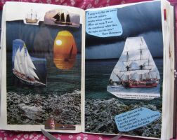 1st Altered Book 19, Favorites by angelstar22