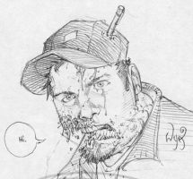 The Zombie WyA. Self portrait by RyanOttley