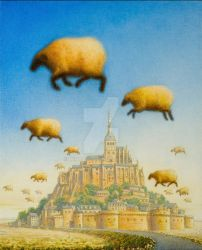 Mont Sheep Michel by mihalyo