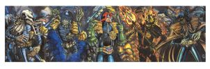 JUDGE DREDD SKETCH CARD PUZZLE COLORS by AHochrein2010