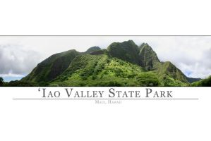 Iao Valley Panorama Poster by sean335