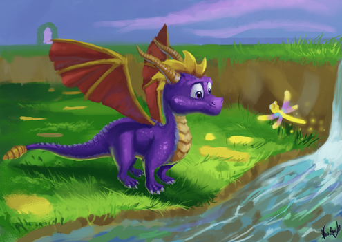 FANART- Spyro year of the dragon by Yarghu