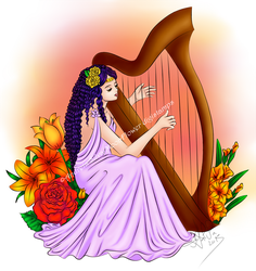 Harp Maiden by Orathty