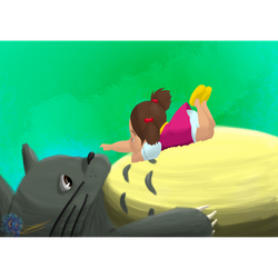 Totoro fanart by LawrenceIllustrated