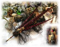 Raven's Lyric Feather Pen by ChaeyAhne