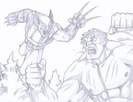Wolverine Vs Hulk by PerfectCirkel