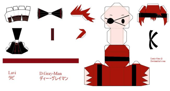 D.Gray-man Papercraft - Lavi by Larry-San