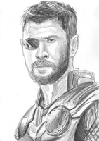 Thor (Infinity War) sketch by MayTheForceBeWithYou