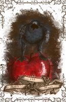 Raven with Apple by YummingDoe4