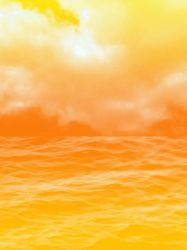 FREE: Sky-Water Background: Orange by Magical-Mama