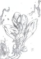 Spidey Pencils by greenhickup