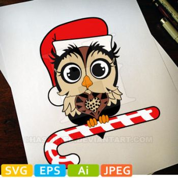 Christmas Owl in color by hassified