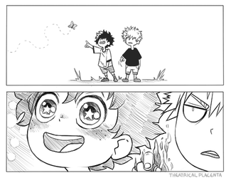Look Kacchan A Butterfly! (1/2) by TheatricalPlacenta