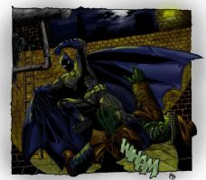 Batman vs Killer croc by mattsart101
