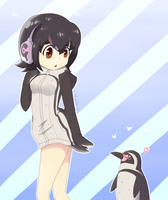 Grape-kun and Hululu by pinkaito