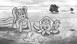 Inktober Day 16: Wet (DQVIII) by ChrystalChameleon