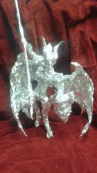 Valkia the Bloody - Aluminum Foil Sculpture by TheFoilGuy