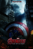 Avengers: Age of Ultron Movie Poster -Capt America by tyler-wetta