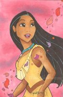 Sketch Card: Pocahontas by TLSeely