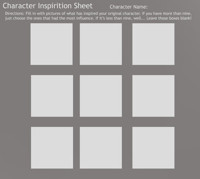 Character Inspiration Sheet by jlucydaisuke