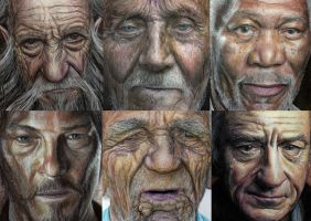 Color pencil drawings ( close up ) by AtomiccircuS