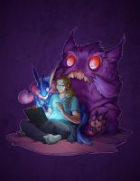Greninja and Gengar discover the Internet (Video)