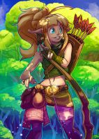 woodland elf girl by Andante2