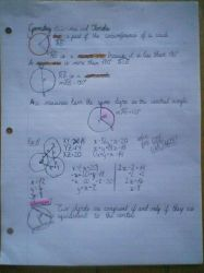 My handwriting -CONTAINS MATH- by LeopardBrightsky