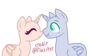 MLP Surprise Affection Base by flaxiter