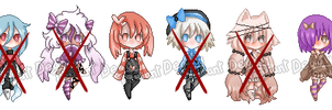 Smol Chibis Adoptable Batch 5 OPEN by Deadly-Deviant