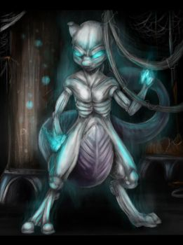 Mewtwo by Ink-Leviathan