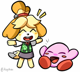 Isabelle Makes Friends! by iKeychain