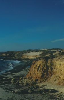 cliffscape with ocher sand by Pippa-pppx